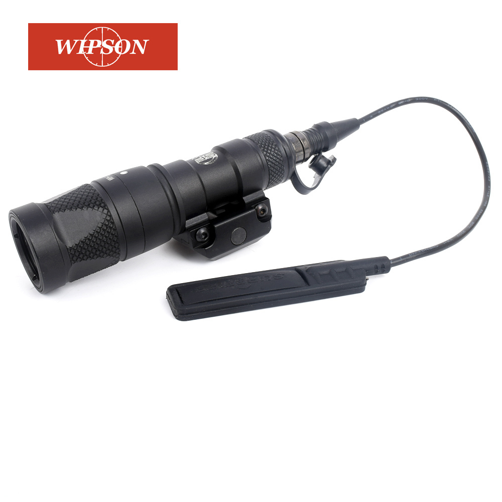 WIPSON Tactical SF M300V Mini Scout Light LED Flashlight Gun Weapon Light With Constant Strobe Momentary Output For HuntingWIPSON Tactical SF M300V Mini Scout Light LED Flashlight Gun Weapon Light With Constant Strobe Momentary Output For Hunting