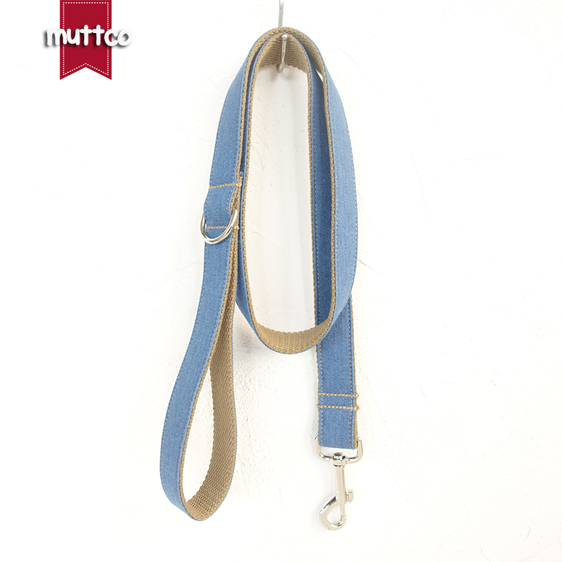 MUTTCO retailing creative-design fashionable handmade leash THE BLUE JEAN wear comfortable dogcollars and leashes 5 sizes UDL003 ...