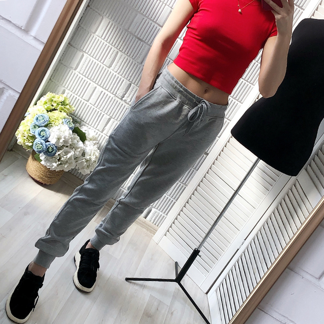 2019 Autunm women pants and casual trousers women plus size sport pants sweatpants