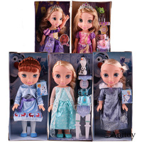 Olaf's Adventure Princess Anna Elsa Rapunzel Doll Tangled PVC Action Figure Christmas Birthday Gift Toys for Children