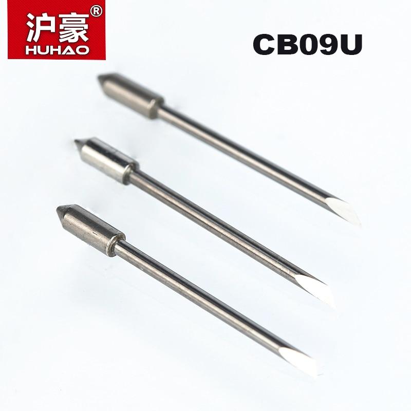HUHAO 5PCS/lot Graphtec CB09 Plotter Cutter 30/45/60 Degree Tungsten Blades Cutting Plotter Vinyl Cutter Knife CB09U