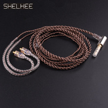 SHELKEE audio cable replacement upgrade 0.78mm mmcx interface for shure weston technica,ATH 1964 ie80 tf10 im50 ue18