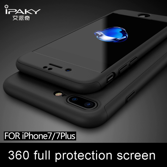 iPaky brand Ultra Thin back Cover For iphone 7 case + Tempered Glass Screen Protector for iPhone 7 plus cases for iphone 7 cover
