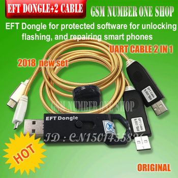 Gsmjustoncct 100% ORIGINAL nuevo eft dongle EFT DONGLE/fácil FIRMWARE  TEMA/DONGLE EFT Cable UART 2 en 1 envío Gratis