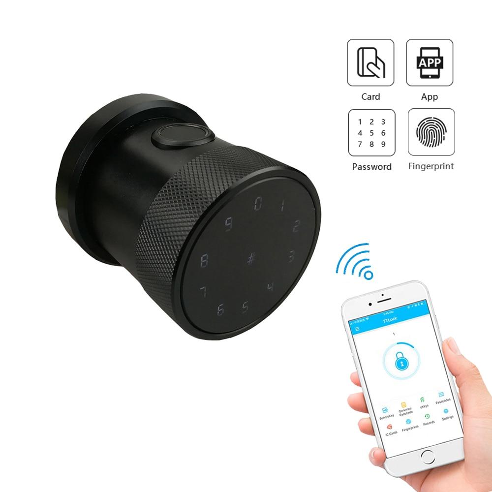 YOHEEN Round Handle Knob Bluetooth App Wifi Smart Fingerprint Door Lock for Home Appartment Office