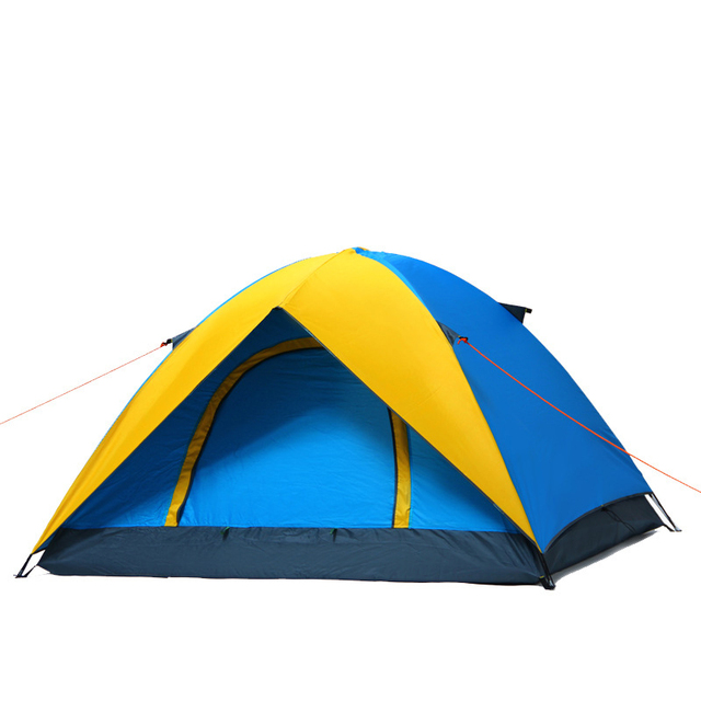 6ed11b49380a2 Barraca De Camping Chapiteau Tente 3-5 Personnes Grand Espace En Plein Air  Tente Pour