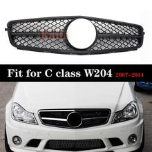 Racing Grill For Mercedes C Class W204 c180 c200 c220 c260 c300 Front Bumper Grille 2007-2014