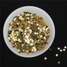 10g/Pack Light Gold Nail Sequin 3mm 4mm Star Shape Sequins Paillettes for Nails Beauty,Lady manicure,wedding decoration confetti star shaped sequin manicure