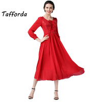 Hot New Elegant Self Cultivation Chinese Style Wedding Dress High Waist Red Large Size Clothes Dresses