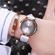 GUOU Simple Fashion Watch Women Watches  Shock Resistant Roman Women's Leather Ladies Clock saat relogio feminino dames horloges