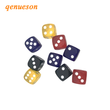 8Pcs 16mm Acrylic Dice Transparent Color White Point Set Round Corner Four Hexahedron Table Games D6 Club Board
