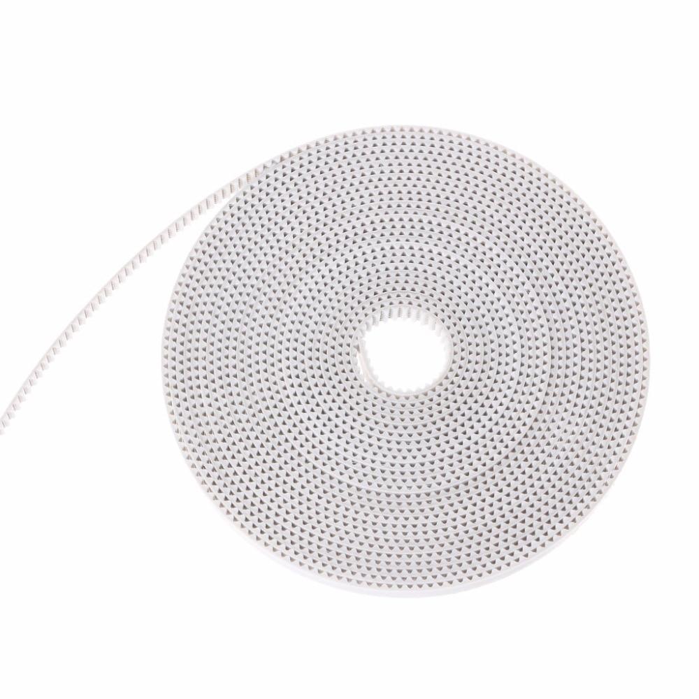 1 Stück 3d Drucker Teile 5 Mt Weiß Pu Mit Stahl Core 2 Gt-6mm Gt2 Öffnen Timing Gürtel Für 3d Drucker Prusa-pc Freund Direktverkaufspreis