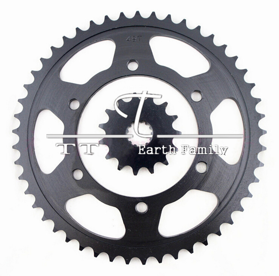Racing Motorcycle parts Chain 530 front & Rear Sprocket 49-15T for Kawasaki ZZR400 ZZR 400 sprockets motorcycle parts front
