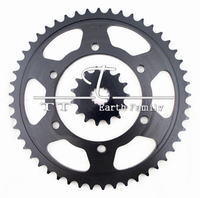 Racing Motorcycle Parts Chain 530 Front Rear Sprocket 49 15T For Kawasaki ZZR400 ZZR 400 Sprockets