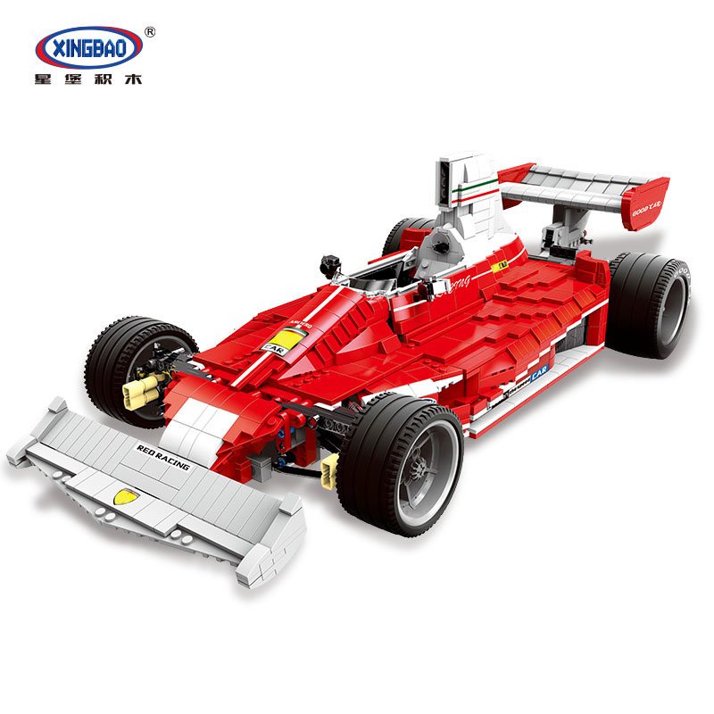 DHL 03023 The Red Power F1 Racing Car Set Educational Building Blocks Bricks Compatible Legoinglys Technic classic DIY Toys цена