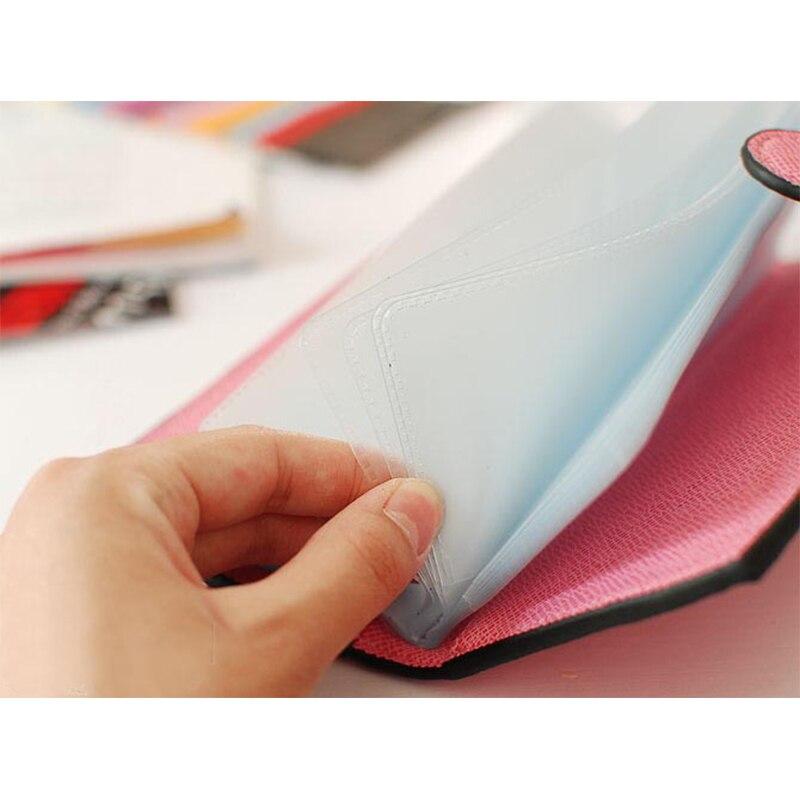 kreditkortsinnehavare fall pass läder kvinnor kvinnlig affärs id - Plånböcker - Foto 6
