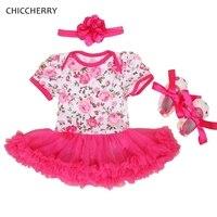 الساخنة الوردي الطفل الرباط رومبير الوليد توتو مجموعات العصابة و أسرة عيد الطفل اللباس vestidos menina الرضع الفتيات الملابس