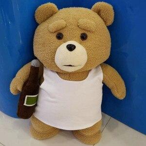 Image 3 - 45cm 9 סגנונות סרט היא טדי דוב בפלאש צעצועי ב חליפת ילד טד רך חיות פרווה בובות מתנת הווה טוב Qulity כלה שמלה