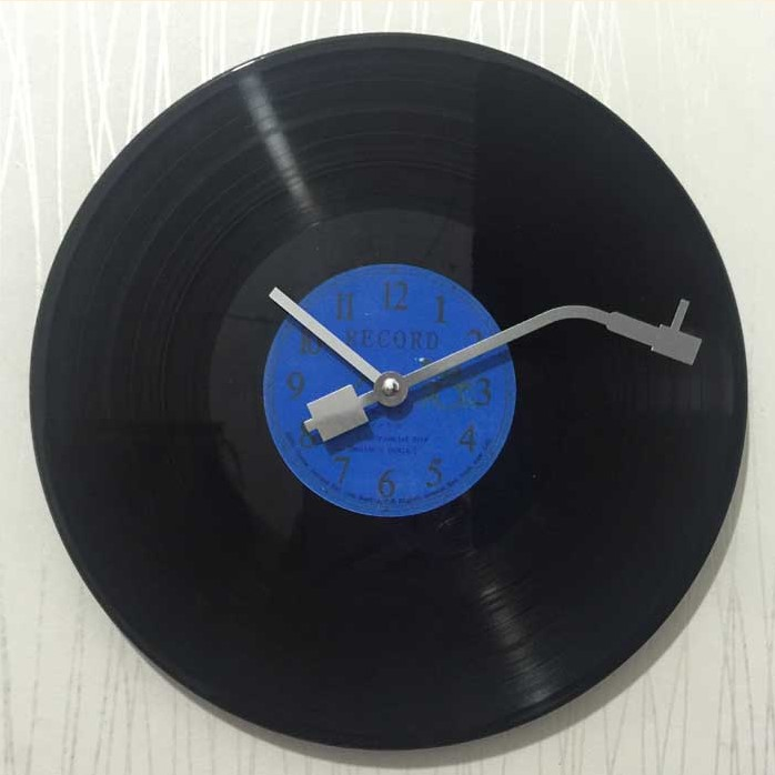 12Inch Vintage Wall Clock Modern Design CD Black Vinyl Record Clock Duvar Saati Horloge Murale Slient Kitchen Watch Home Decor
