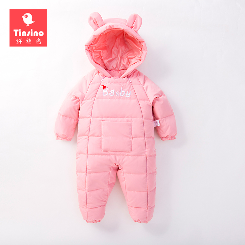 Tinsino Newborn Baby Girls Boys Down Rompers Infant Winter Hooded Rompers Toddler Warm Jumpsuits Baby Fashion Clothing cotton baby rompers set newborn clothes baby clothing boys girls cartoon jumpsuits long sleeve overalls coveralls autumn winter