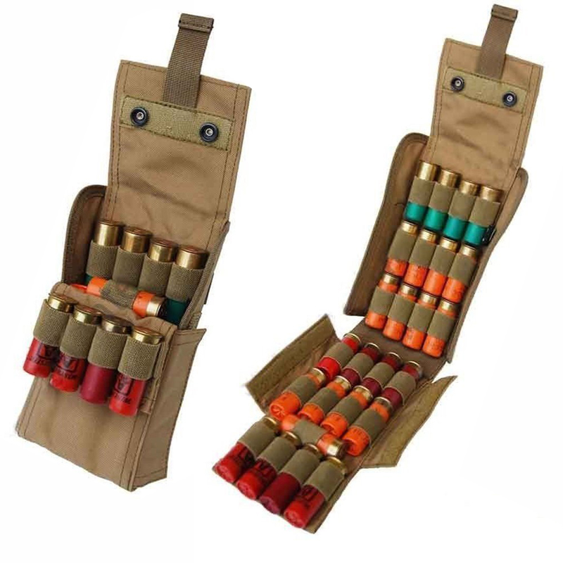 Hunting airsoft molle pouch Tactical 25 Shot gun Shell Bandolier Belt Ammo Holder Military Cartridge bag tactical Accessories tactical utility magazine mag drop dump pouch molle belt hunting airsoft military gun ammo foldable bag