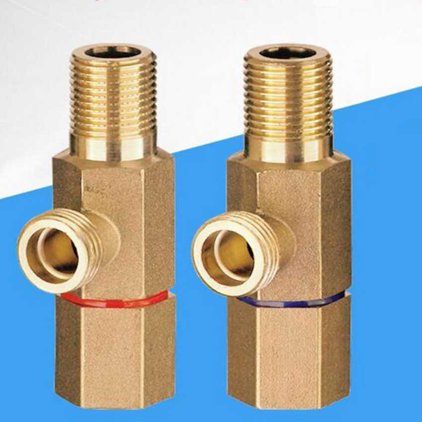 "Triangle Angle Valve 1//2/""Kitchen Bathroom Toilet Hot/&Cold Water Stop Valve Brass"