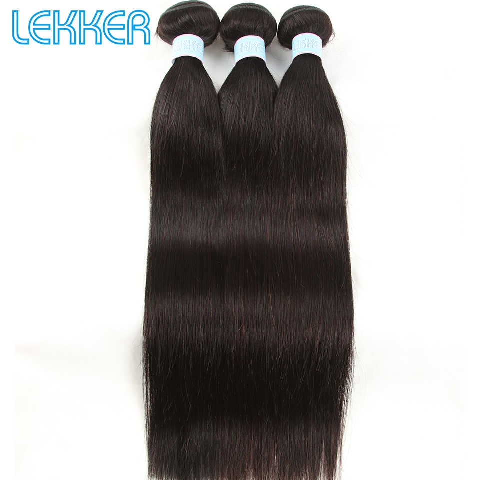 Lekker Peruvian Hair Weave Bundles Human Straight Hair Weaves 3 Bundles Natural Color 8-26 Inches Human Hair Extensions