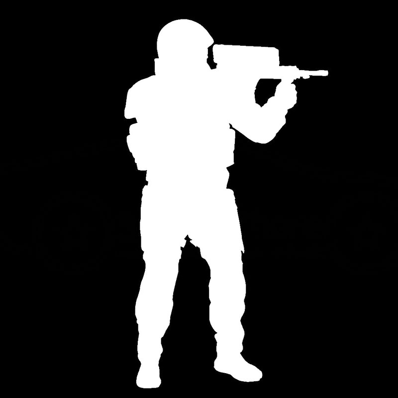 HotMeiNi Cool Sniper Gun Target Shooting Graphic Car Sticker for Window Bumper Smooth Surface Home Car Decor Vinyl Decal 10Color