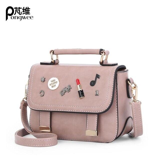 670f45d9f2cc PONGWEE 2017 Cute Handbag For Girls Small Beach bag Women Sling Shoulder  Bags Korean Style Mini Crossbody Bags For Women