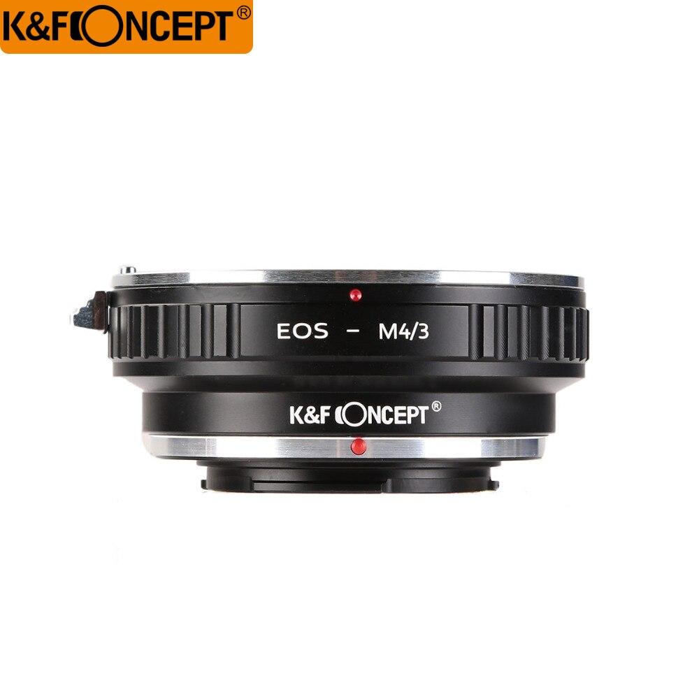 K & F concepto adaptador de lente para Canon para EOS EF montaje de la lente para M4/3 MFT para Olympus PEN y para Panasonic Lumix cámaras EOS-M4/3