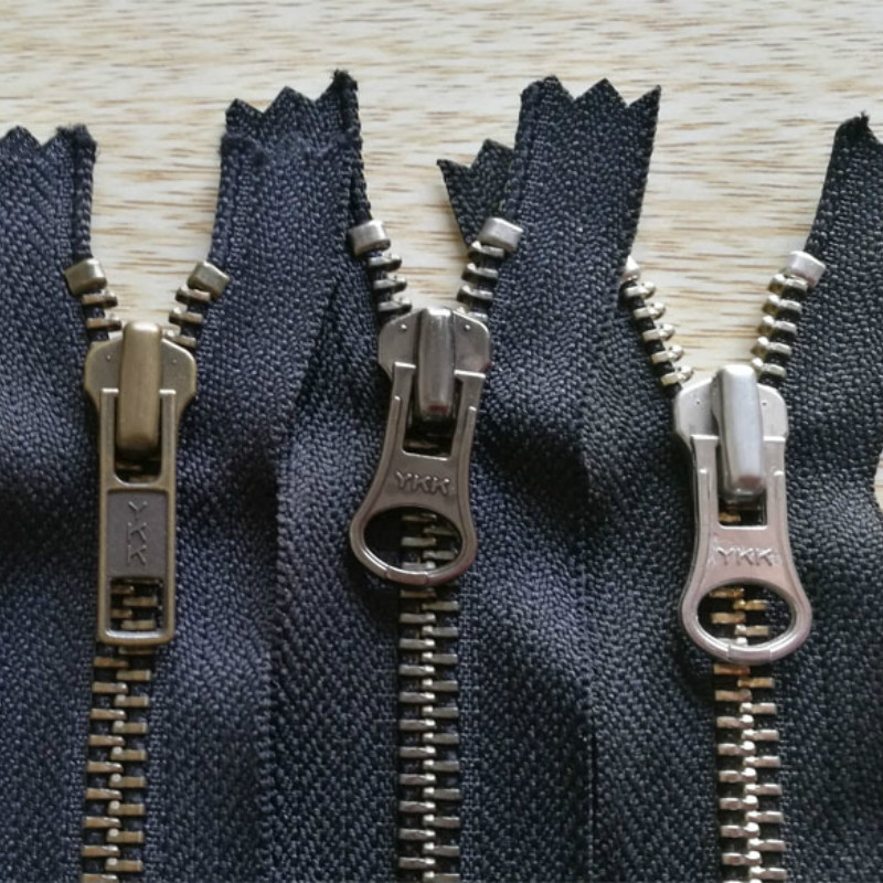 50 Pcs lot Short Ykk Metal Zipper Black Vintage Restro Close End for Leather Bags Pocket