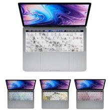 Наклейка на клавиатуру с мраморным узором для Mac Book pro13 15 Touch Bar A1706 A1707A1989 1990, чехлы на клавиатуру для ноутбука, цветная пленка на клавиатуру