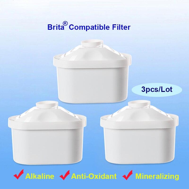 3pcs Lot Household Brita Maxtra Filter Pitcher Replacement Filter Cartridges Mineral Alkaline Ionizer brita Water Pitcher
