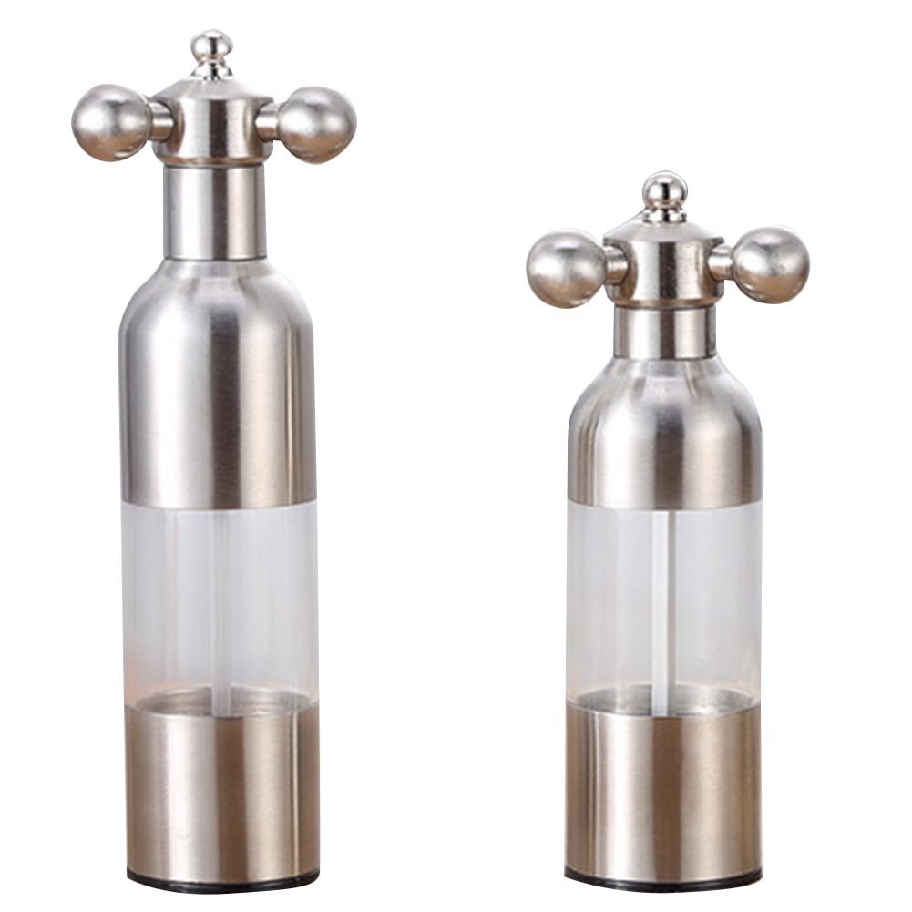 1Pc Stainless Steel Tap Grinder Manual Salt Pepper Mill Spice Sauce Grinder Silver Mill Tap Mills Kitchen Creative Gadgets|Mills| |  - title=