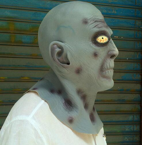 Top Quality Halloween realistic adults Party Cosplay Deluxe Latex Full Head old man Mask Breaking Bad Toys Movie Scary Man Mask