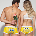 Cute Cartoon Underwear Cotton Couple Underpants Breathable Men Boxer Shorts Women Panties