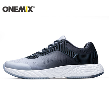 ONEMIX Men Tennis Shoes For Women High Elastic Athletic Trainers Trail Male Gym Sports Sneakers Air Mesh Knit Outdoor Walking 8