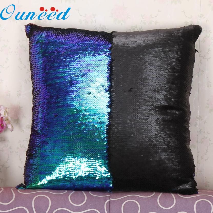 40cm*40cm DIY Two Tone Glitter Sequins Throw Pillows Decorative Cushion Case Sofa Car Covers NOV23