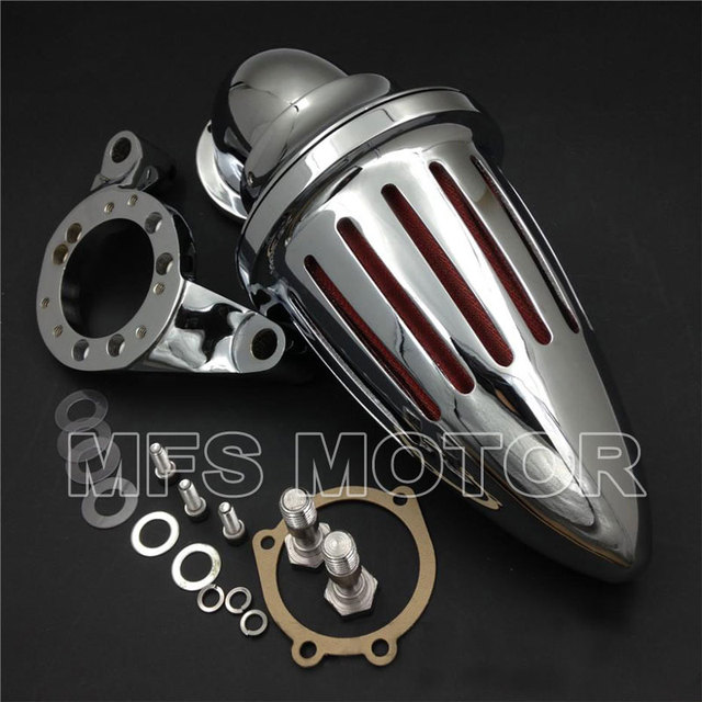 Ar kits Cleaner filtro de entrada para Harley CV carburador Delph V - Twin CHROME motocicleta parte
