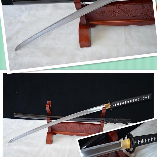 Bleach Sword High Quality Handmade Japanese Samurai Sword Katana 1060 Carbon Steel Hamon Full Tang Can Cut Bamboo Tree