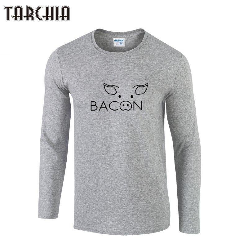 TARCHIIA 2018 novo toucinho de porco rosto moda chegou homens menino Longo  masculina de manga comprida t tshirt da camisa Dos Homens T-Shirt 100%  Algodão ... 48eb2dc0836