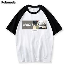 New 2019 Aikooki Naruto Sasuke t shirt Men/women Fashion Streetwear Hip Hop Harajuku Print Mens Clothes Top