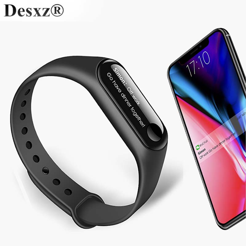 Desxz Smart watch Bluetooth sports with Heart Rate OLED Message Alarm Clock Step Fitness T
