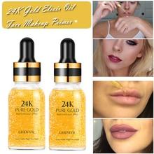 Праймер для макияжа, 24 K, золотой эликсир, эссенция, контроль жирности лица, увлажняющий крем, отбеливающая основа, макияж, Праймер, минимайзер пор, сыворотка для ухода за кожей