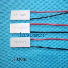 TEC1-03506 радиатор Термоэлектрический охладитель Пельтье охлаждения плиты 4,13 V 15x30 мм холодильное модуль