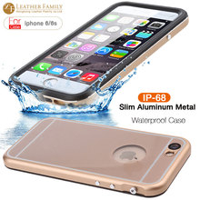 For  iPhone 6 6S Slim Aluminum Metal ipx8 Waterproof Case life water Shock Dirt proof Protective Cover for iPhone 6 4.7Inch case