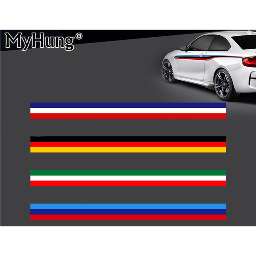 Car full body sticker design - 2m Car Styling Creative Three Color Flag Pattern Car Whole Full Body Decal Sticker