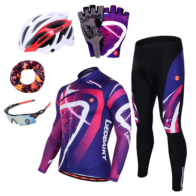 Long Sleeve Pro Team Cycling Jersey Set Men Breathable 3D Padded Sportswear Mountain Bicycle Clothing Mtb Bike Wear Clothes Mens in Cycling Sets from Sports Entertainment