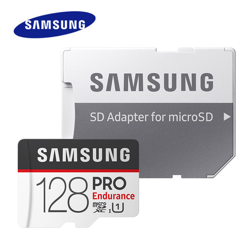 <font><b>Samsung</b></font> <font><b>PRO</b></font> Endurance microSD Card 128GB 64GB SDXC 32GB SDHC U1 Class10 TF Card For Video Surveillan Car DVR Smartphone image