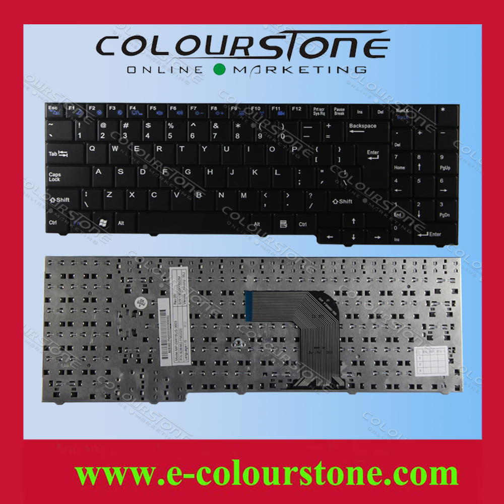 US Laptop keyboard for Clevo ECS MB50 MB50II MB50IA MB50IA1 For DNS Notebook Black MP-09R16SU-3603 82B382-FM2028